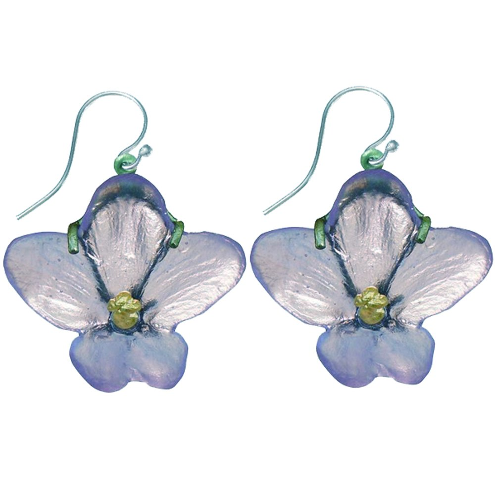 ''African Violet'' Hanging Earrings By Michael Michaud for Silver Seasons by Michael Michaud