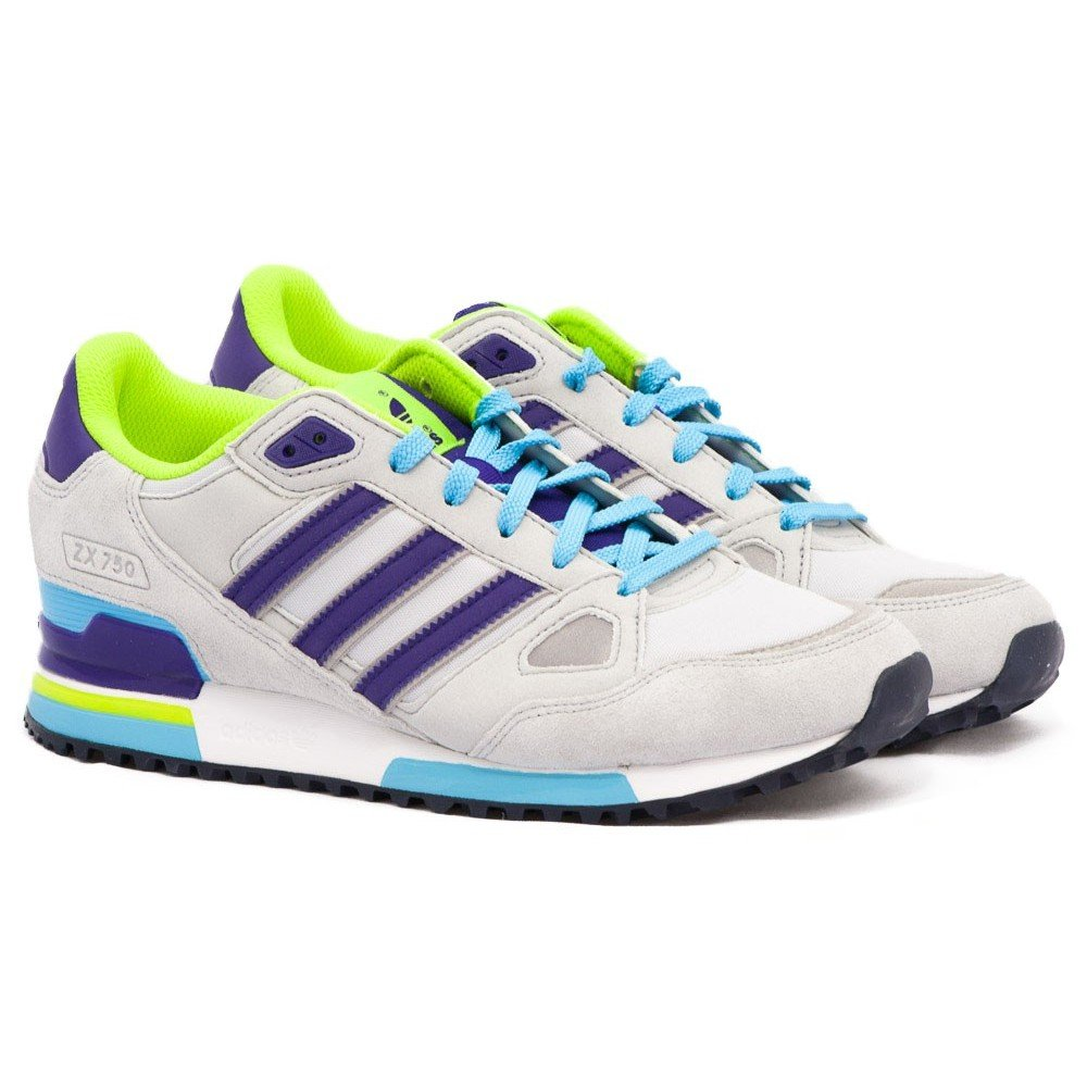 competitive price 93796 7351e Adidas ZX 750 Schuhe light grey-court purple-light aqua - 43 ...