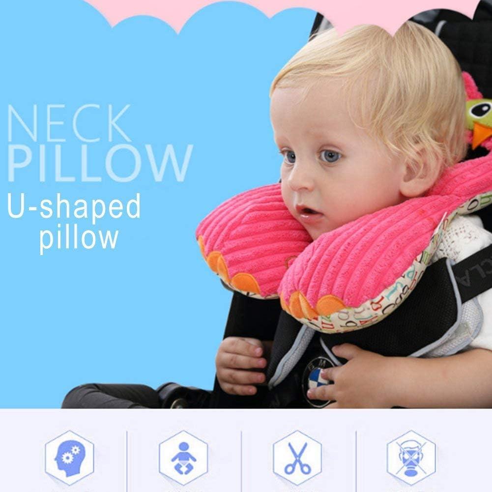 Apofly 1 Pc Baby Nackenkissen Baumwolle Gestopft Cartoon Auto Sitz Kopfst/ütze Kissen U-f/örmigen Kopf Schutzkissen Esel
