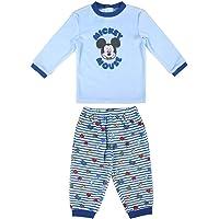 Cerdá - Pijama Largo para Bebés de Mickey - Licencia Oficial Disney.