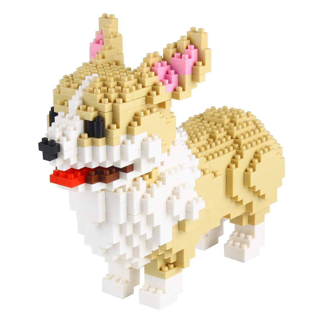 Larcele Mini Dog Building Blocks Pet Building Toy Bricks,950 Pieces KLJM-02 (Welsh Corgi)