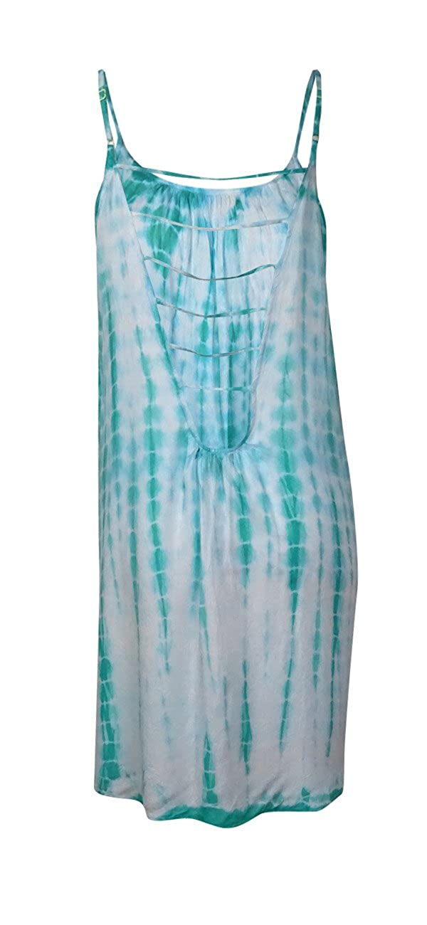a2db6fed958 Raviya Women's Tie Dye Lattice Back Swimsuit Cover-Up Dress Mint Green X- Large: Amazon.co.uk: Shoes & Bags