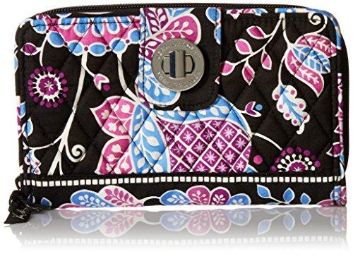 Vera Bradley Turn Lock Wallet, Alpine Floral - Signature Checkbook Wallet