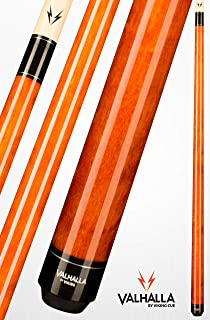 product image for Valhalla VA109 by Viking 2 Piece Pool Cue Stick Autumn Orange No Wrap 16-21 oz. Plus Blue Master Chalk