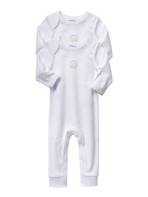 VERTBAUDET Lot de 2 bodies bébé blancs avec jambes Blanc 3M - 60CM ... 4b69ea21d4a