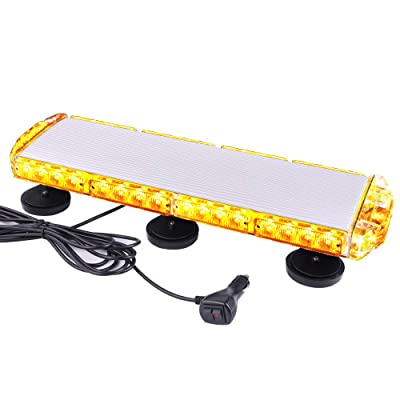 "ASPL 21"" Emergency Mini LED Light bar, 38LED 3 Watt Low Profile Roof Mount Strobe Light Bar, With Strong Magnet Base,for All 12-24V Emergency Vehicle (Amber): Automotive"