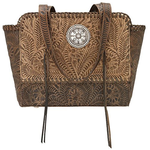 American West Women's Copper Annie's Concealed Carry Tote Tan One Size by American West (Image #5)