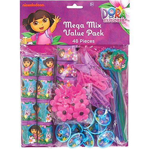 Dora Boots Pinata - Dora the Explorer 'Flower Adventure' 48pc Favor Kit (1ct)