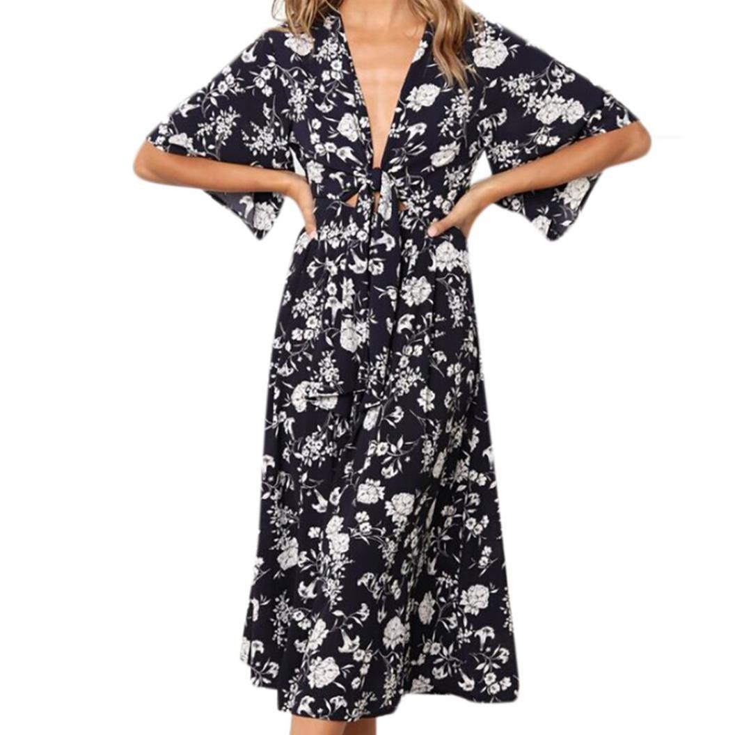 Spbamboo Womens Chiffon Flora Print Half Sleeve Print Tank Short Mini Dress by Spbamboo