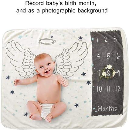 New Mom Baby Shower Gift Photo Background Prop Boy Newborn Month Blanket Bunny Olive /& Emma Baby Monthly Milestone Blanket Wreath Frame Included Premium Fleece Large 40 x 60