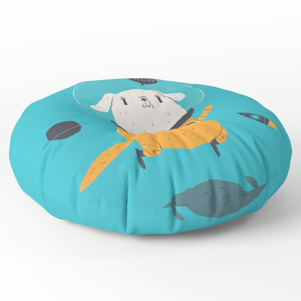 Society6 Space Dog Floor Pillow Round 26'' x 26''
