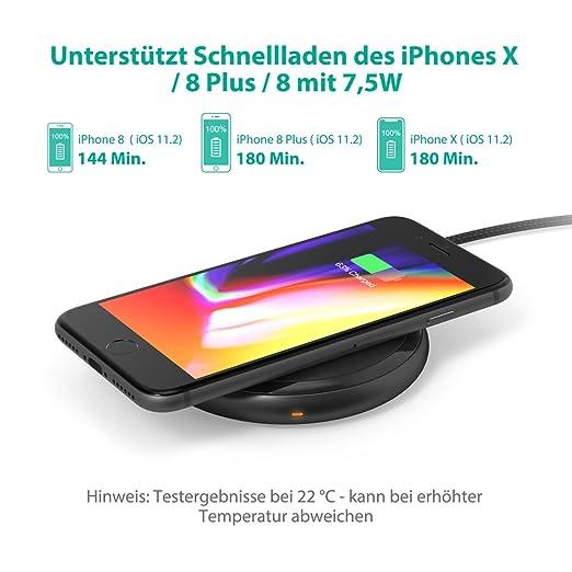 Wireless Charger RAVPower Qi Kabellose Ladegerat Amazonde Elektronik