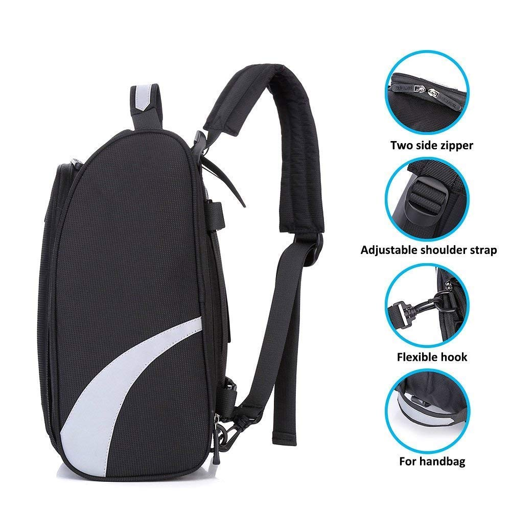 Shoe Bag Golf Modern Golf Shoe Zipped Closure Portable Protect Sports Travel Shoes Black Bag by Bicycleer (Image #3)