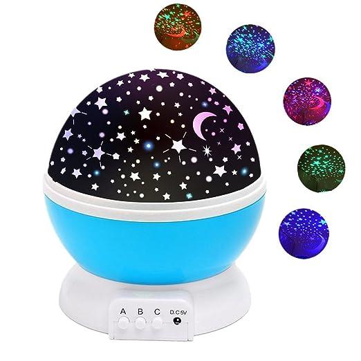 170 opinioni per Lampada Stelle Luna,SOLMORE Lampada di Illuminazione Notturna LED cielo stellato