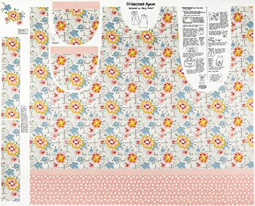 (Riley Blake Designs Lemonade Sundae 44'' Apron Panel Fabric, Cream )