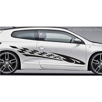 Juego de 2 vinilos decorativos para coche, coche deportivo ...