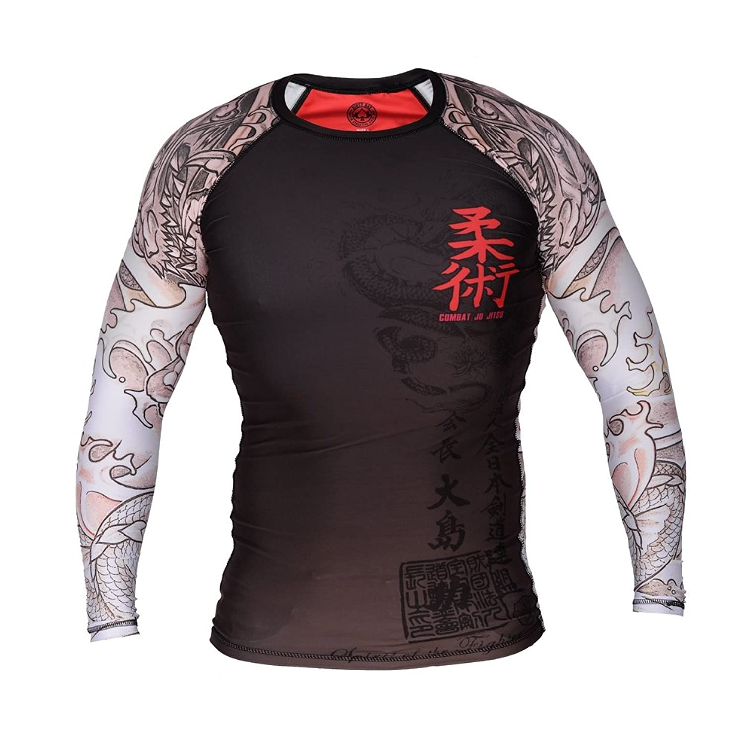 Image of Dirty Ray Long Sleeve Rash Guard COMBAT JU JITSU