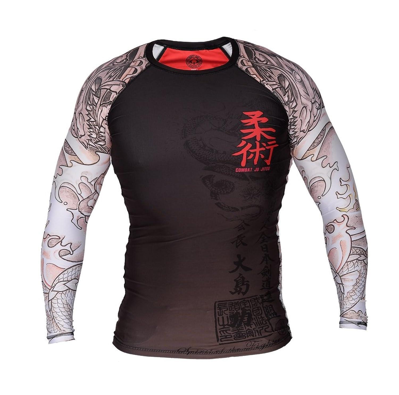 Image of Dirty Ray Long Sleeve Rash Guard COMBAT JU JITSU