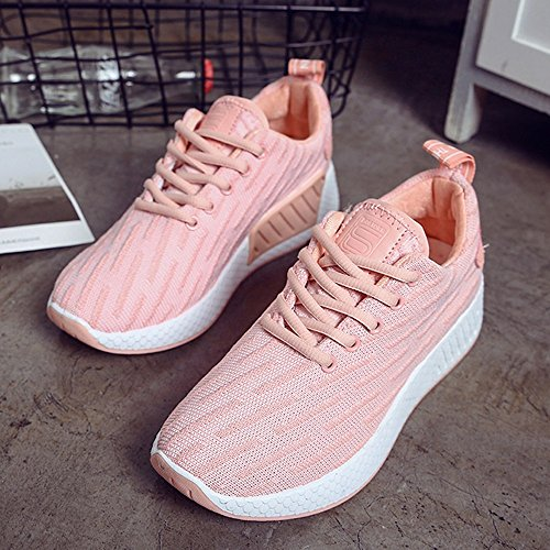 Zapatos Deporte Transpirables para Zapatillas Deportivas Running Gimnasio Mujer Sneakers Casual para Rosado Correr nqxnRZI