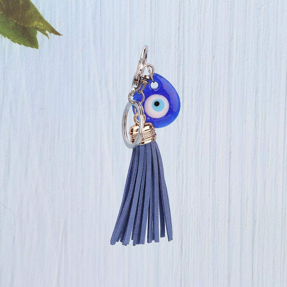 Bolsa de Llaves cumplea/ños bendici/ón de Amuleto de Vidrio Turco HEEPDD Llavero de Mal de Ojo Azul decoraci/ón Llavero de Buena Suerte para ni/ñas