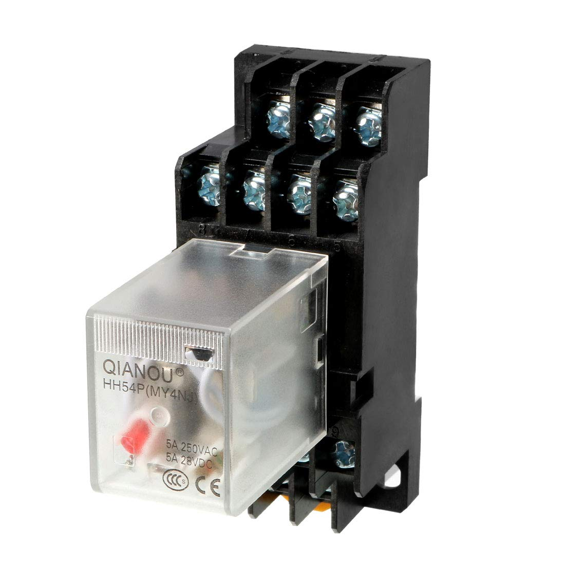 Socket Base uxcell AC110//120V Coil Red Indicator Light 14 Pin 4P4T Electromagnetic General Purpose Power Relay