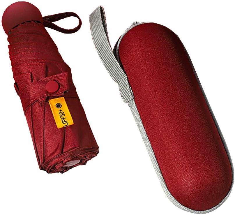 Upgraded 8 Ribs Travel Umbrella Portable Mini Umbrella Outdoor Compact Umbrella