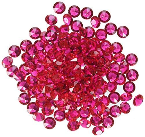 Homeford FPF0750217FS 300 Piece Small Diamonds Gemstone Table Confetti, 3/8