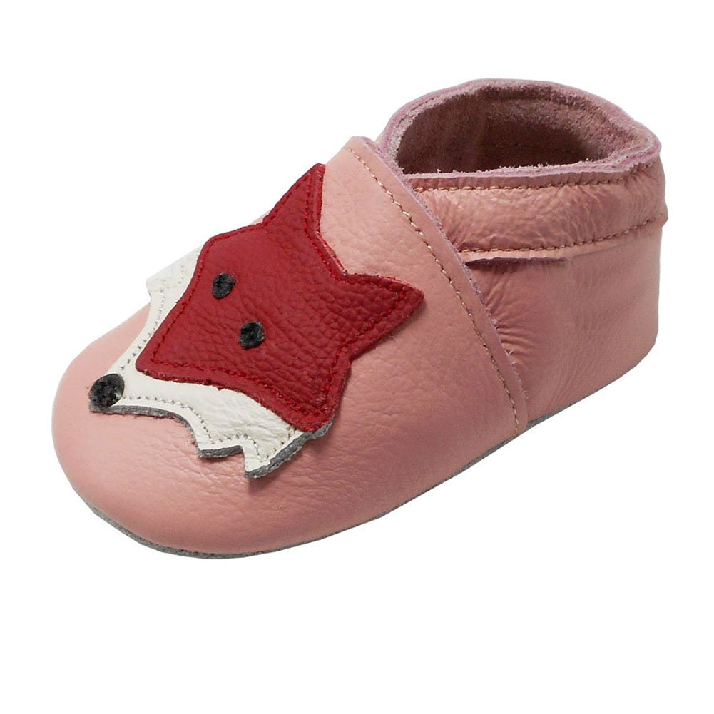 YIHAKIDS Moccasins Slippers with Soft Sole Infant Cute Real Leather Baby Shoes
