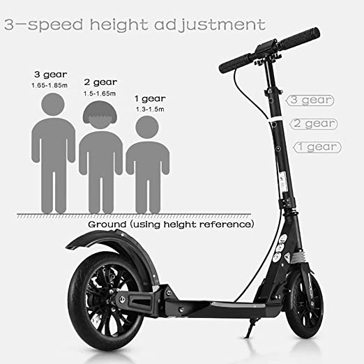 Amazon.com: Scooter Urban Adultos Plegable, Doble Absorción ...