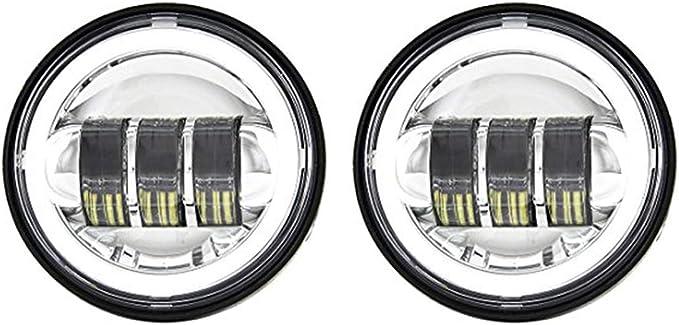 2/Phares de brouillard de 4.5/pouces phares antinieblas avec les yeux dange angel eyes DRL Halo pour Harley Davidson