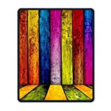 Mouse Pad Galaxy Rectangle Non-Slip Rubber Mousepad Rainbow Wood Print Gaming Mouse Pad