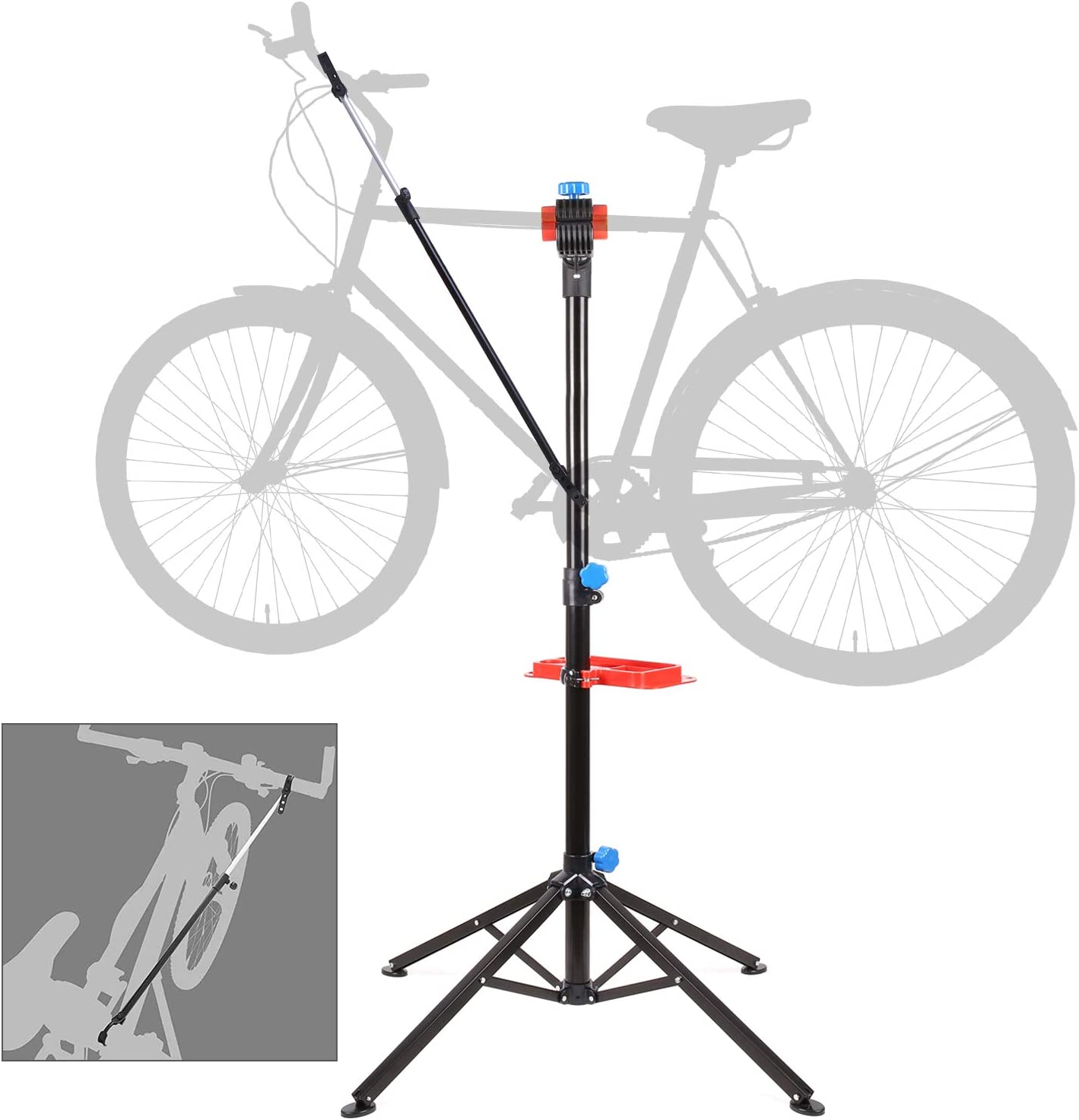 Foldable Mountain Bike Repair Rack Stand Adjustable Bicycle Maintenance Rack Workstand New Version Bike Repair Stand,/Home Mechanic Bicycle Repair Stand