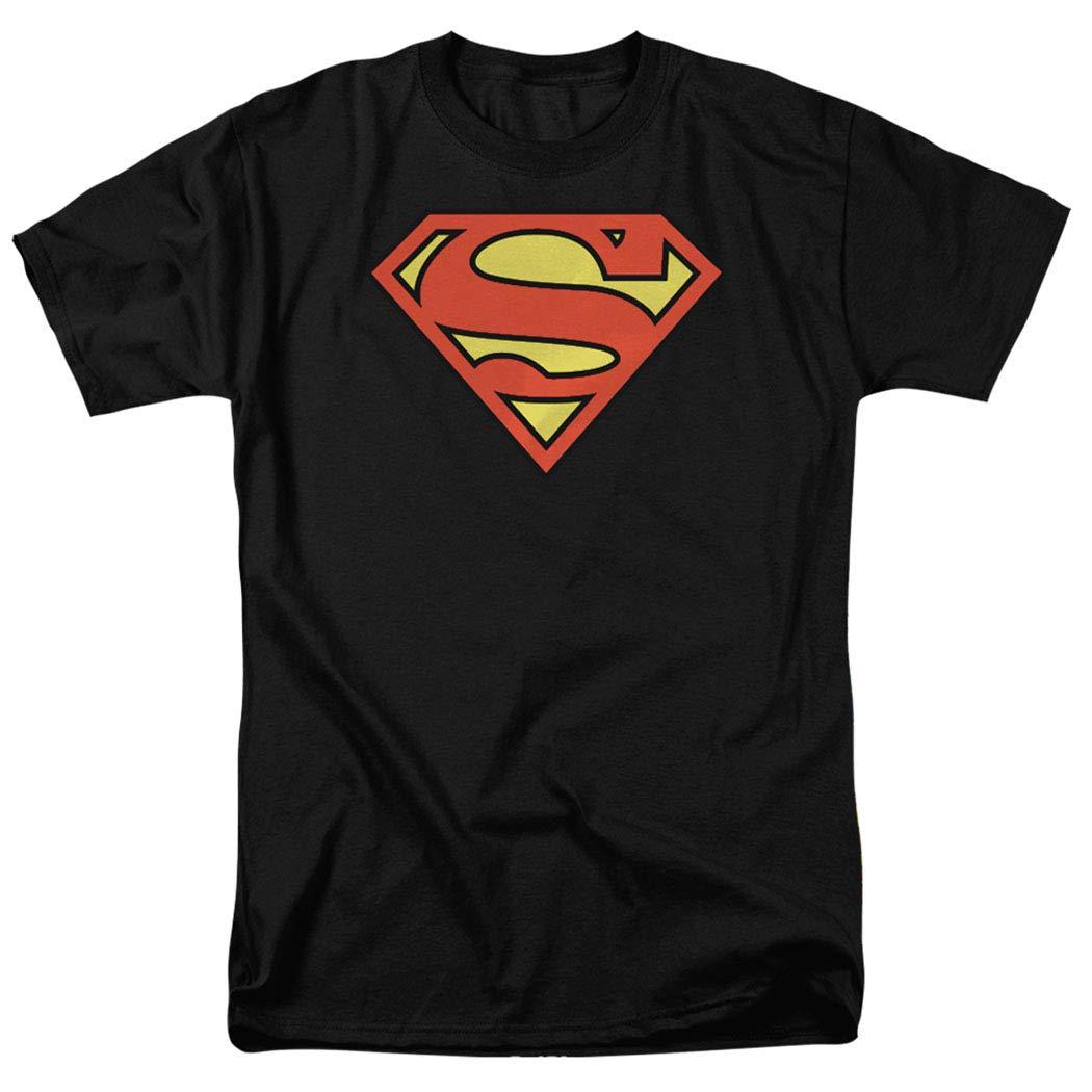 Superman Logo S Shield Black Shirts