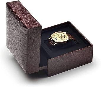 Caja De Reloj,Organizador De Joyas Estuche para Relojes Soltero Viajes Portátil Llevar A Prueba De Polvo Caja De Almacenamiento Caja De Reloj Caja De Regalo Pulsera Joyeria - 1: Amazon.es: Relojes