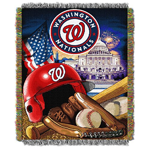 The Northwest Company MLB Washington Nationals Home Field Advantage Woven Tapestry Throw, 48