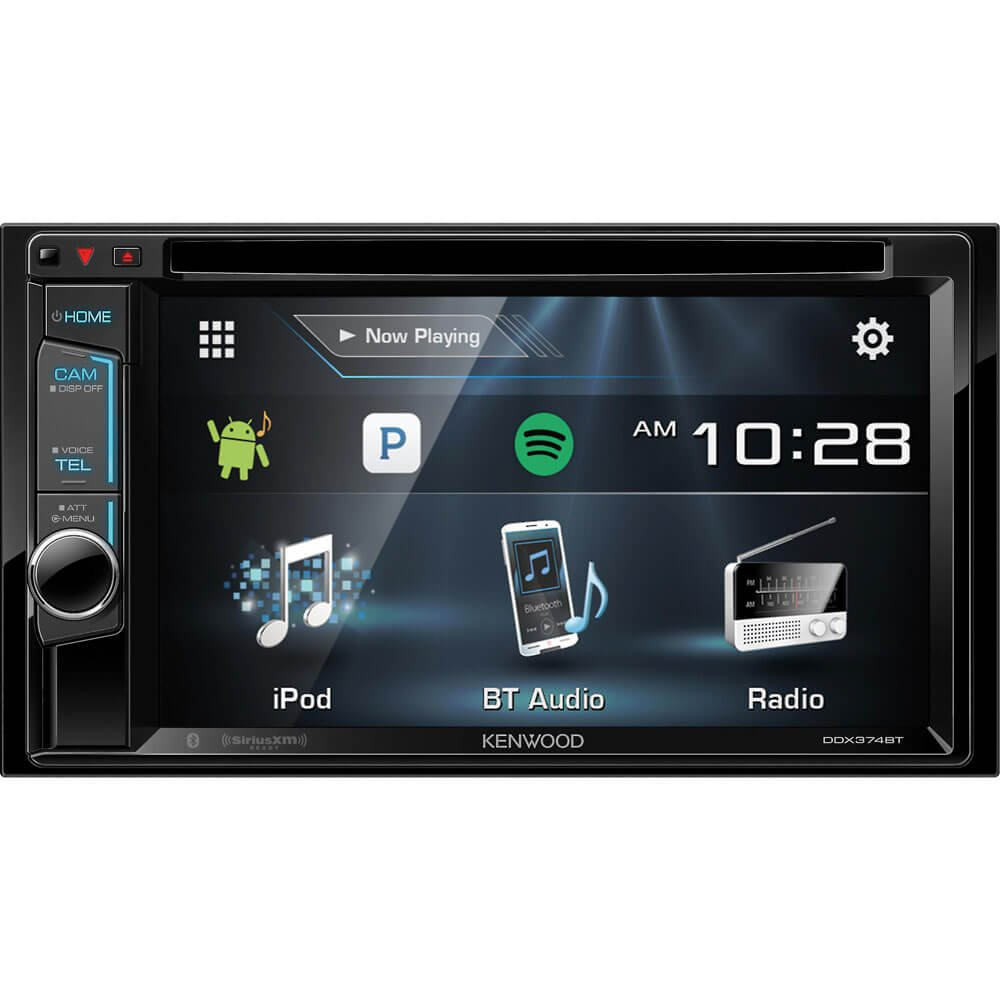 Kenwood Ddx374bt 2 Din Bluetooth In Dash Cd Dvd Dm Amazoncom Stereo Install Kit Ford 500 06 2006 Car Radio Wiring Receiver With 62 Touchscreen Cell Phones Accessories