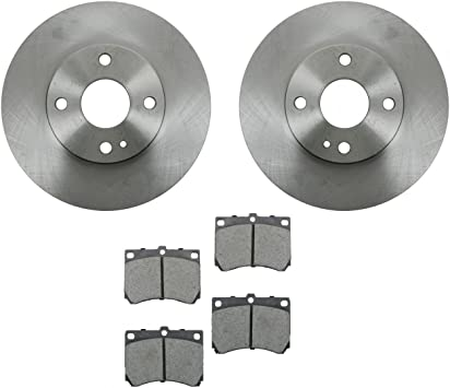 MAZDA MX3 1.8 Drilled Grooved Brake Discs x 4 pads