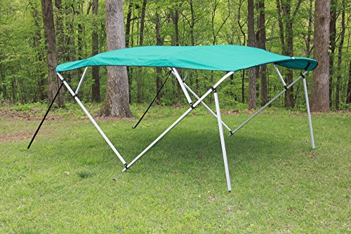 eal/Aqua Square Tube Frame 4 Bow Pontoon/Deck Boat Bimini TOP 8' Long, 91-96