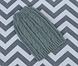 Wool Dog Puppy Sweater XXS/XS 2 to 3 Lbs Soft Merino Wool in Green/Gray Cable for Chihuahua Yorkie Pomeranian Maltese Toy Teacup Breed