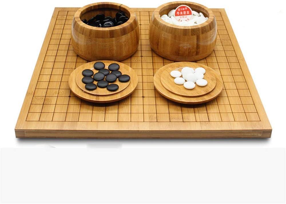 囲碁 リバーシブル竹ゴーボードでゲームの設定を行って、ボウルや石2 Playerのクラシック中国の戦略ボードゲームが含まれています (色 : As picture, サイズ : 47cm*44cm*2cm)