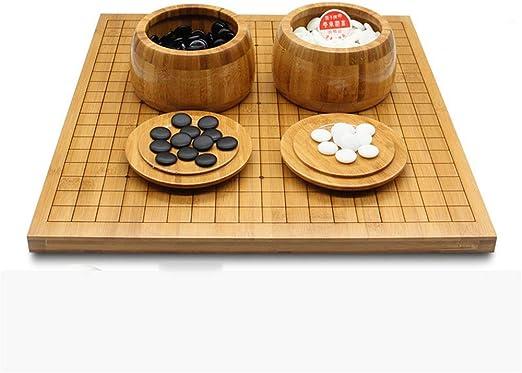 IR Juego de Juego de go con Tablero de bambú Reversible Go Incluye ...