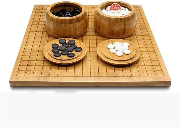 Colección de juegos Juego de juego de go con tablero de bambú reversible Go incluye juego