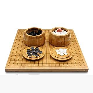 Dfghbn Go Game Set with Reversible Bamboo Go Board e Include Bowls And Stones 2 Player Classico Gioco da Tavolo di strategia Cinese (Colore, Dimensione : 47cm*44cm*2cm)