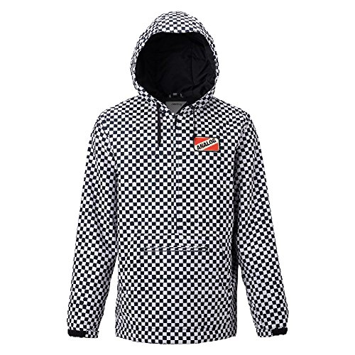 Analog Mens Caldwell Anorak Snow Jacket 2018, Stout White Speed Check, XL