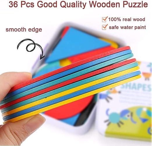 BBLIKE Wooden Jigsaw Puzzle, 36 Pcs