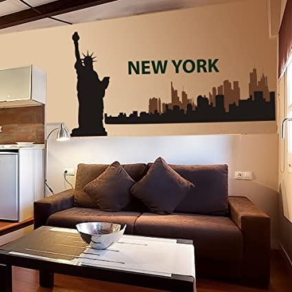 Amazon.com: The Big Apple - New York City Skyline Wall Decal Vinyl ...