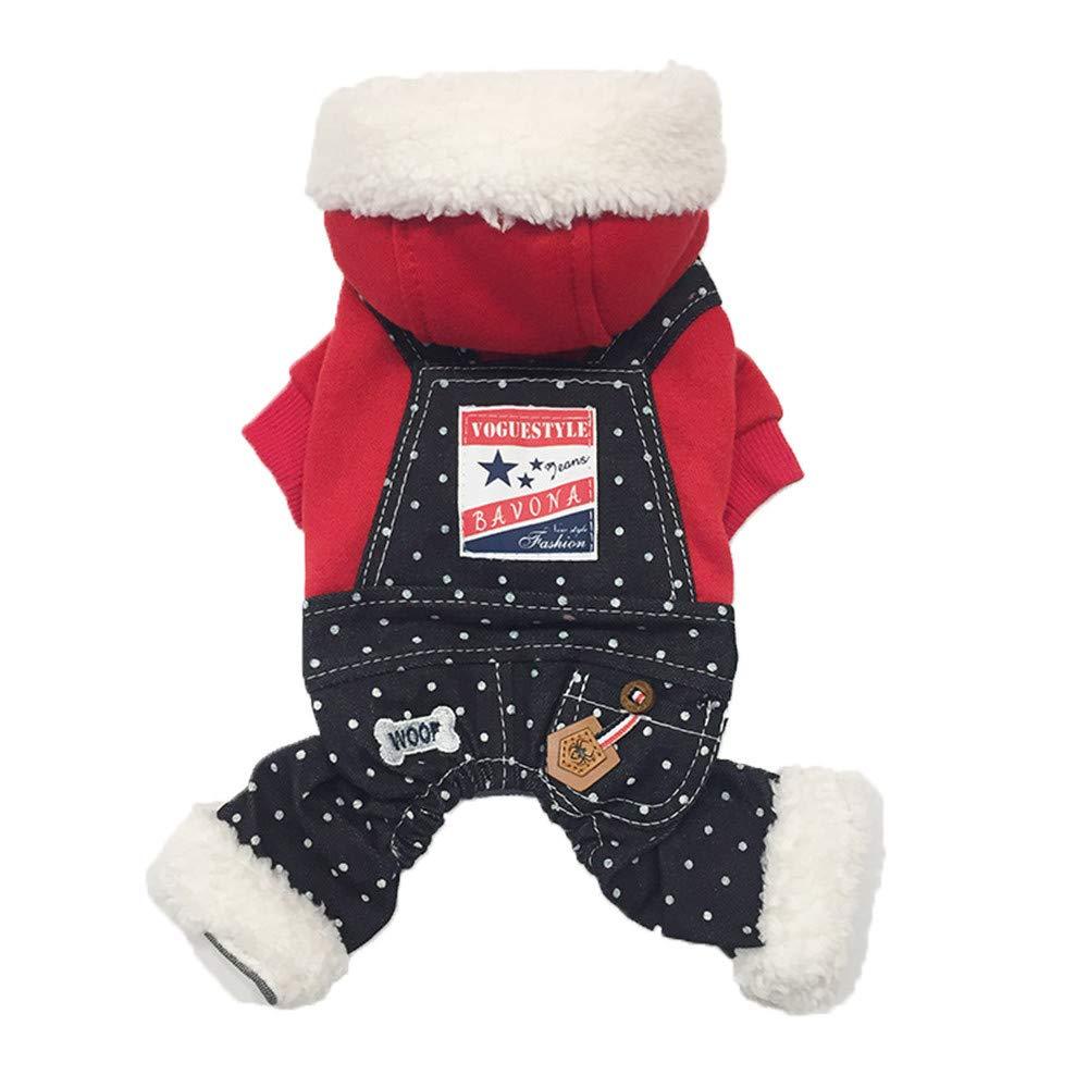 Pet Jumpsuit Hundemantel Warm Wintermantel Haustier Mantel Hund Kleider Welpen Kleidung S) KariNao