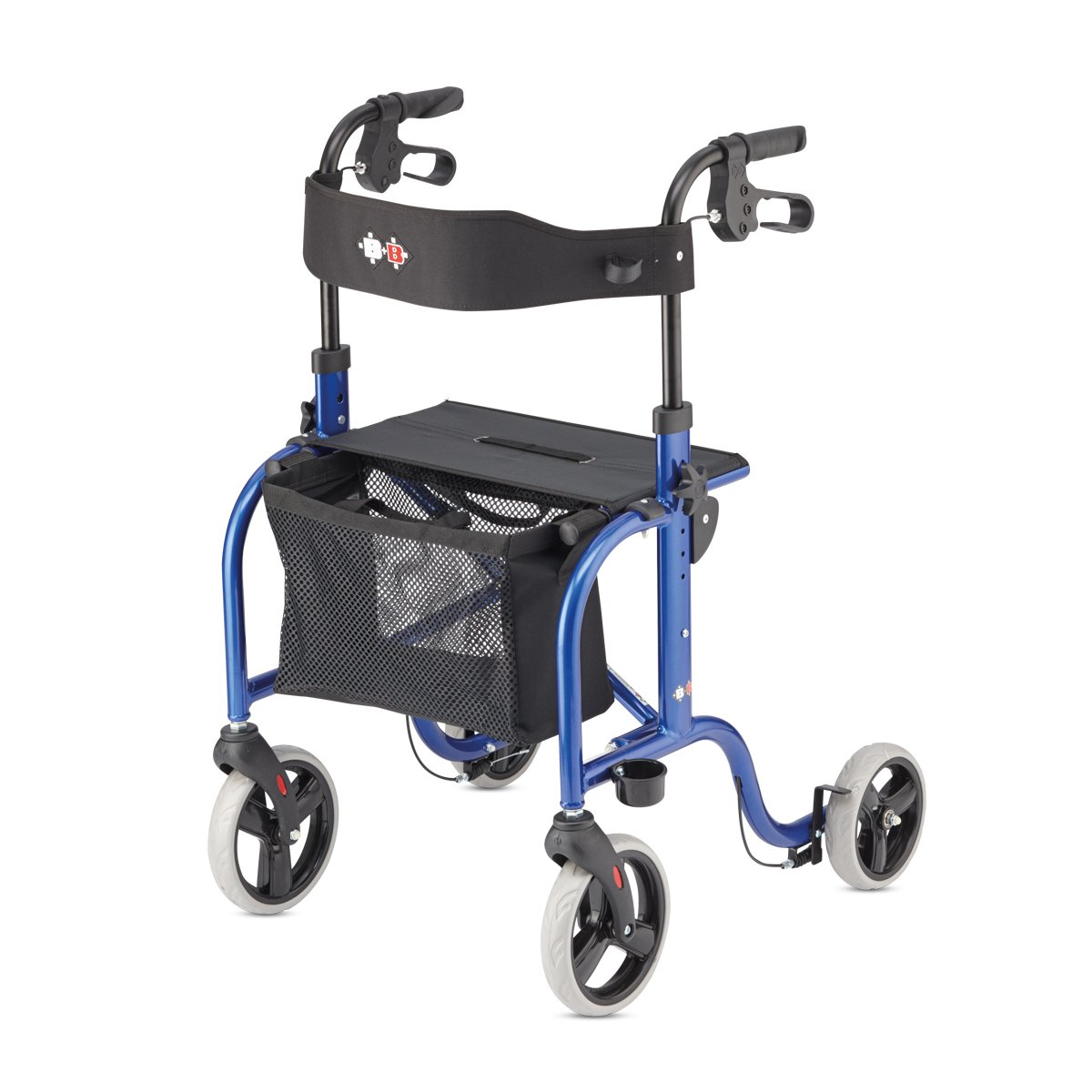 RL-Smart Lightweight Walker Rollator Foldable German Design (Blue)