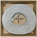 Offex Plenum Cat6 Bulk Cable, Solid, 23 AWG, Pullbox, 1000-Foot, Gray, (OF-11X8-021TH)