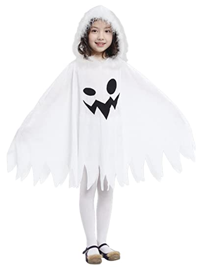 Brcus Kids White Ghost Halloween Cloak Costumes Toddlers Elf Cape Cosplay Role Play Dress up (  sc 1 st  Amazon.com & Amazon.com: Kids White Ghost Halloween Cloak Costumes Toddlers Elf ...